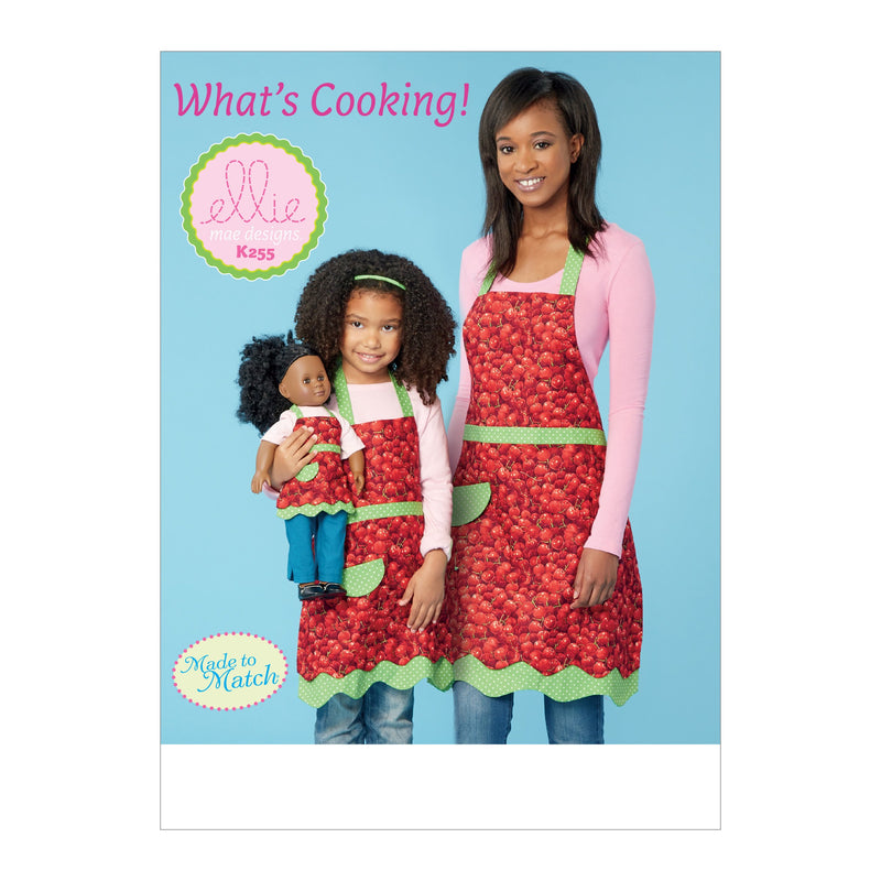 Kwik Sew 0255 Misses' and Girls' Aprons Pattern