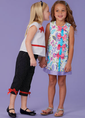 Kwik Sew 0260 Girl's Dress, Top and Capris pattern