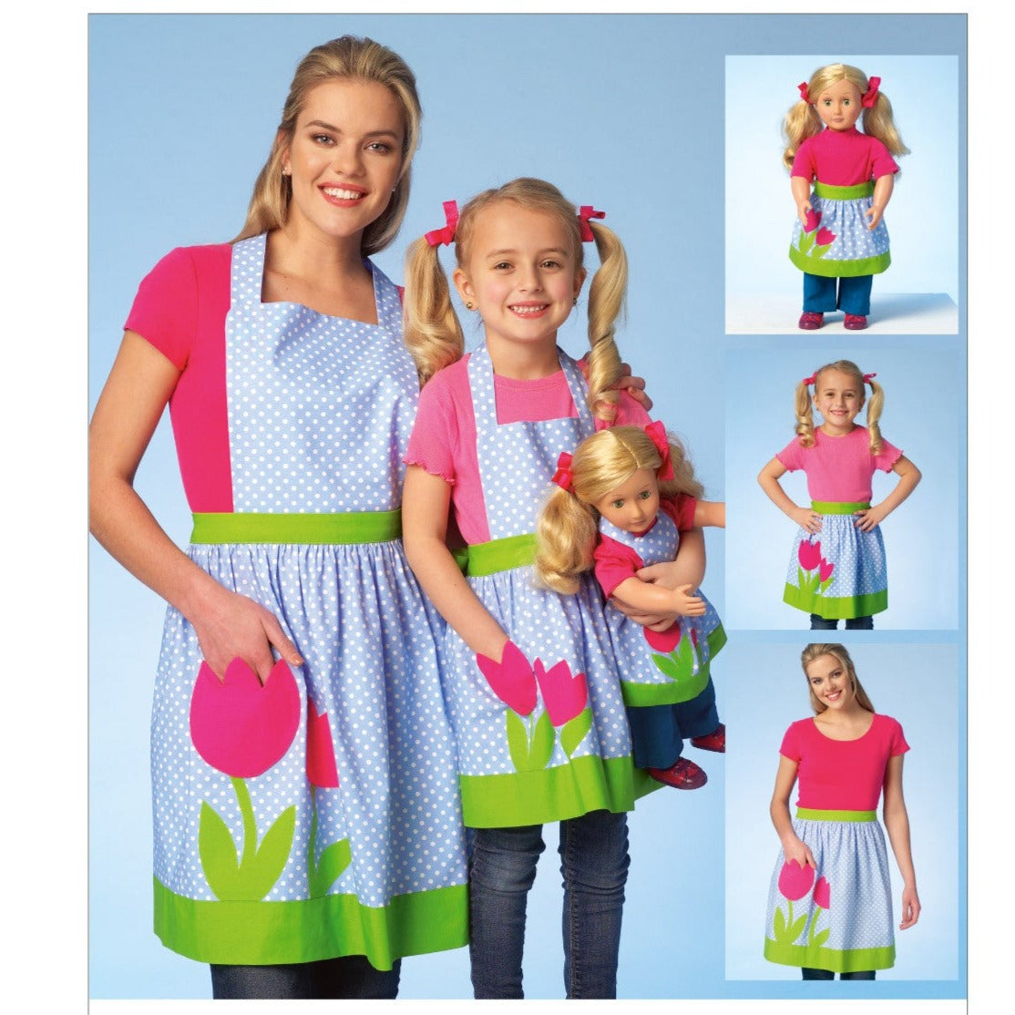 K4105 Misses' /Girl's/Doll's Aprons