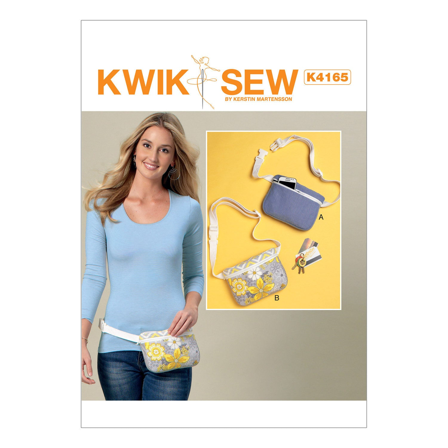 Kwik Sew K4165 Zip-Closure Belly Bags