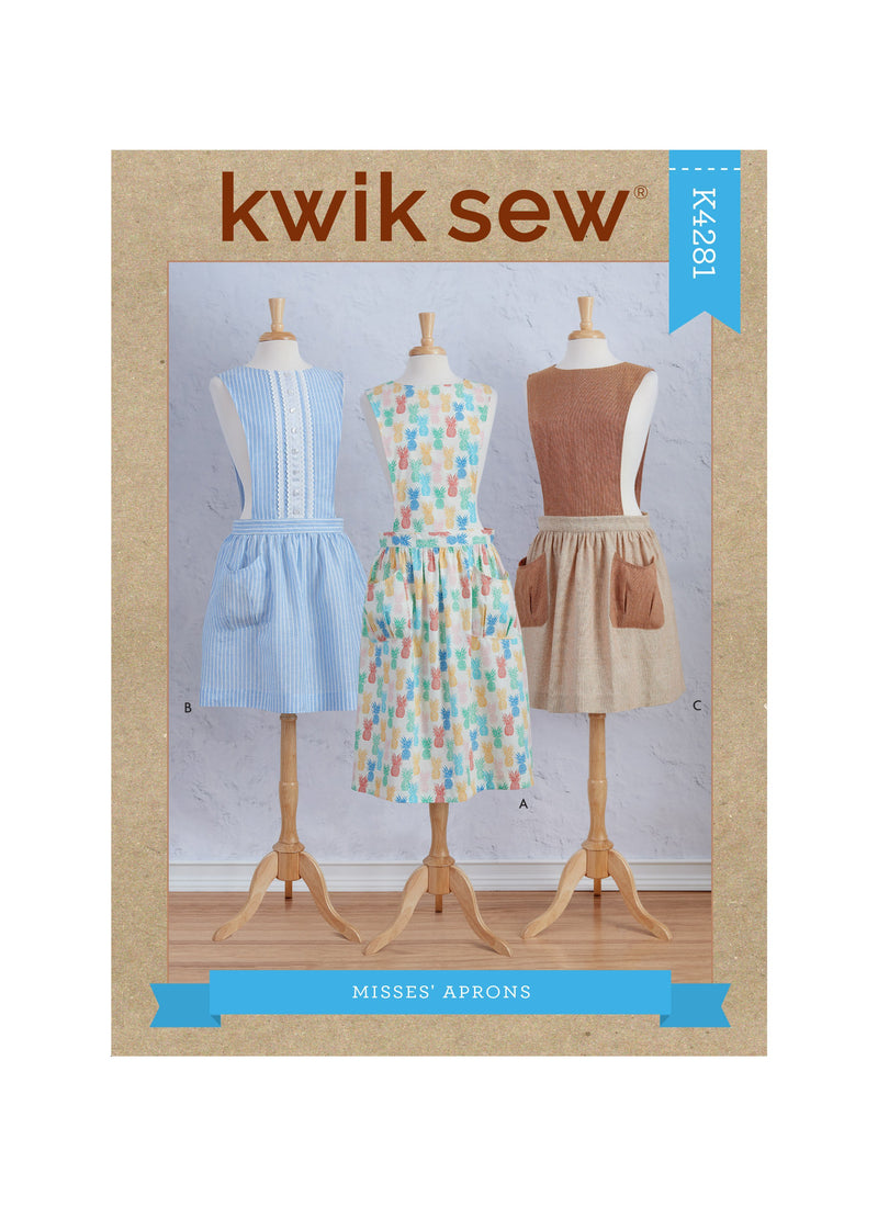 Kwik Sew 4281 Aprons sewing pattern from Jaycotts Sewing Supplies