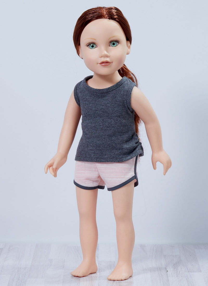 "Kwik Sew 4297 18"" Athleisure Doll Clothes sewing pattern"