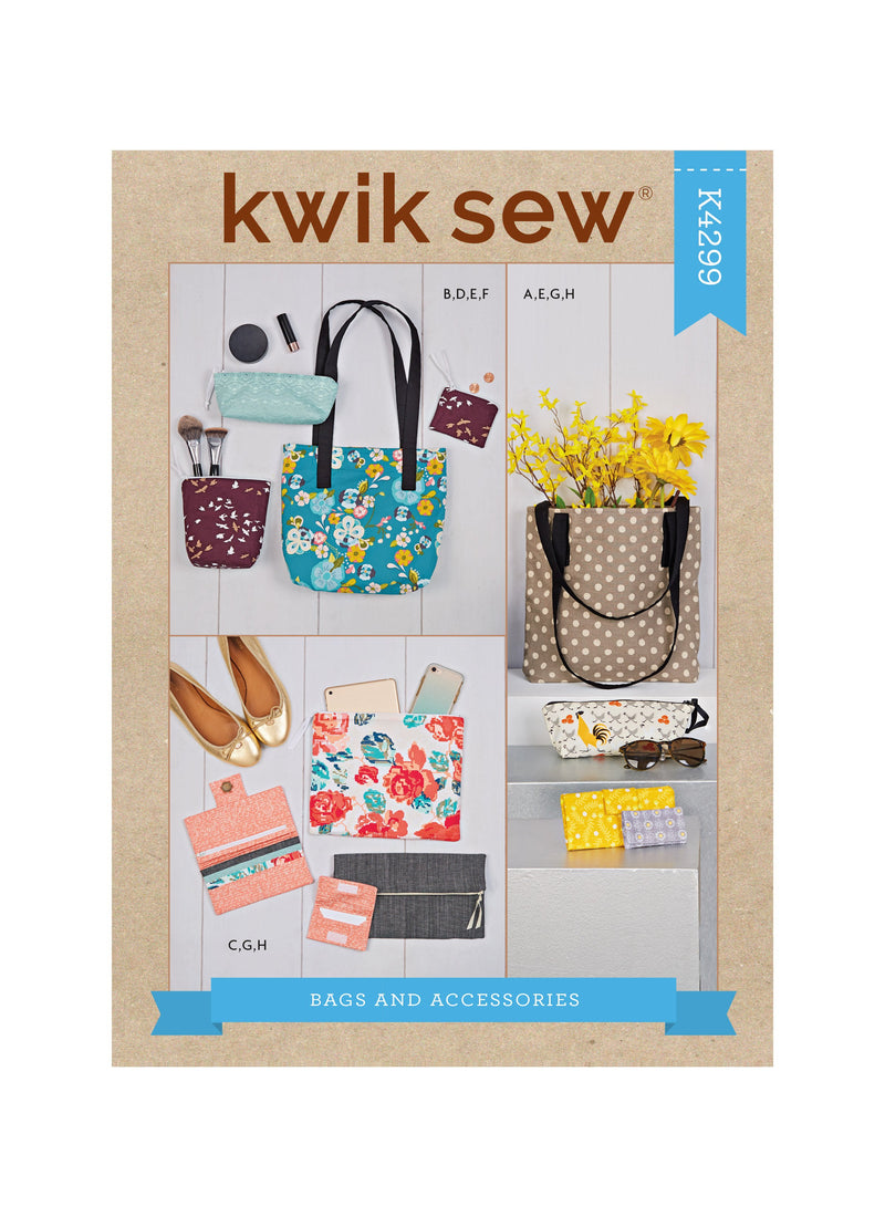 Kwik Sew 4299 Bags and Accessories sewing pattern from Jaycotts Sewing Supplies