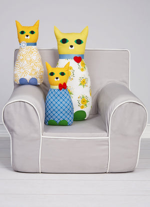 Kwik Sew 4310 Cat Pillows With Tech Pockets sewing pattern from Jaycotts Sewing Supplies
