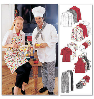 M2233 Misses' & Mens' Chef Uniform from Jaycotts Sewing Supplies