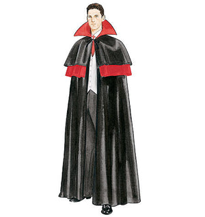 M4139 Misses'/Men's/Teen Boys' Lined & Unlined Cape Costumes