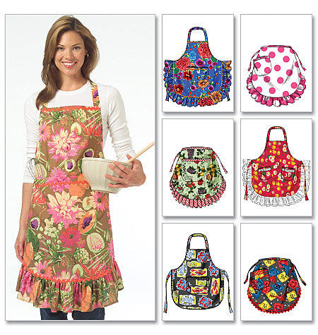 M5284 Aprons by 6 Great Looks One Easy Pattern