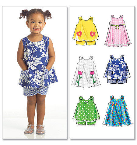 M5416 Toddlers' Tops, Dresses & Shorts from Jaycotts Sewing Supplies