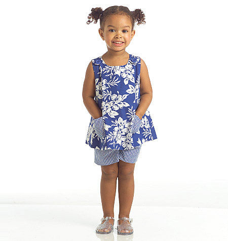 M5416 Toddlers' Tops, Dresses & Shorts