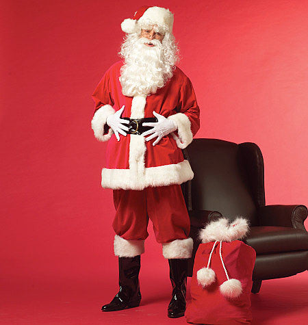 M5550 Misses'/Men's Santa Costumes & Bag