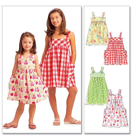 M5613 Girls' Dresses