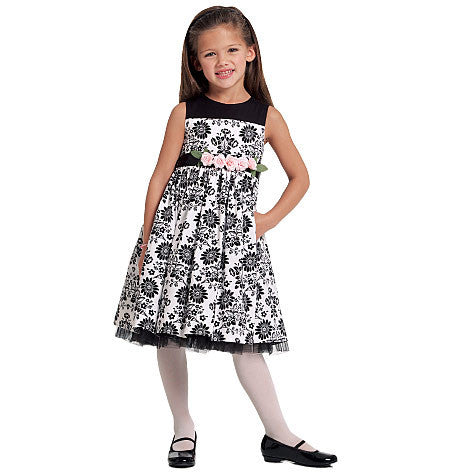 M5793 Girls' Lined Dresses