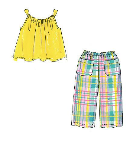 M5797 Girls' Summer Coordinates
