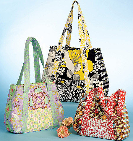 M5822 Tote Bag In 3 Sizes | by Kay Whitt from Jaycotts Sewing Supplies