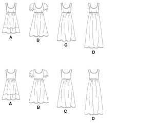 M5893 Misses'/Women's Dresses In 4 Lengths
