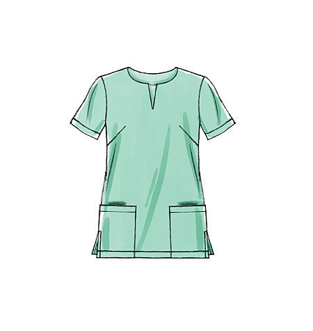 M5895 Misses'/Women's Scrubs: Tops, Dress & Pants