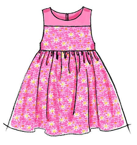 M6015 Infants' Lined Dresses, Panties & Headband