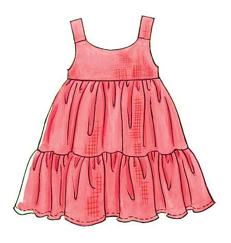 M6017 Toddlers'/Children's Tops, Dresses, Shorts & Pants