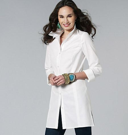 M6124 Misses'/Miss Petite/Women's/Women's Petite Shirts In 3 Lengths
