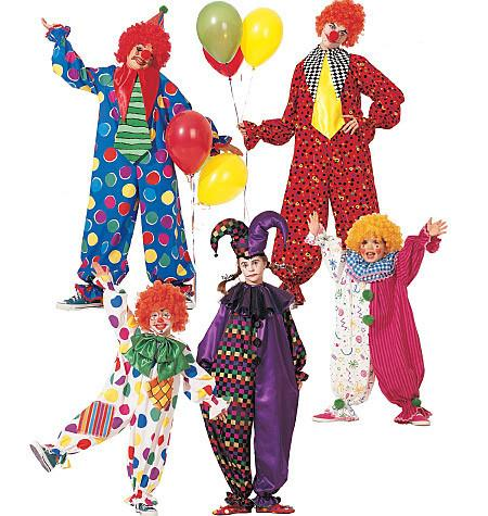 M6142 Children's / Adults Clown Costumes