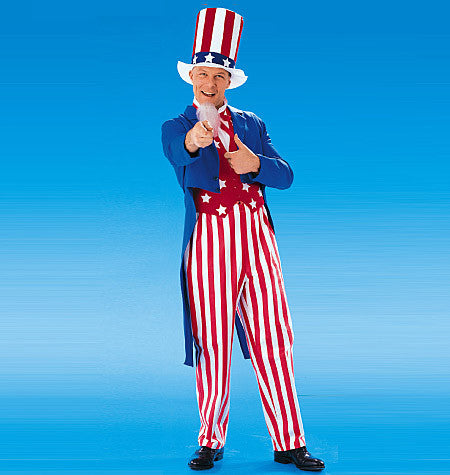 M6143 Adults'/Boys'/Girls' USA Patriot Costumes from Jaycotts Sewing Supplies
