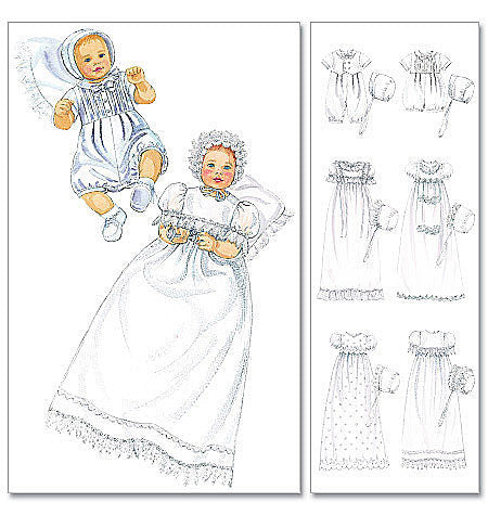 M6221 Infants' Christening Outfits from Jaycotts Sewing Supplies