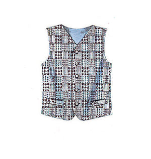 M6228 Misses'/Men's Lined Waistcoats from Jaycotts Sewing Supplies
