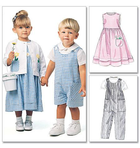 M6304 Toddlers' Rompers, Dress, Jacket & Shirt