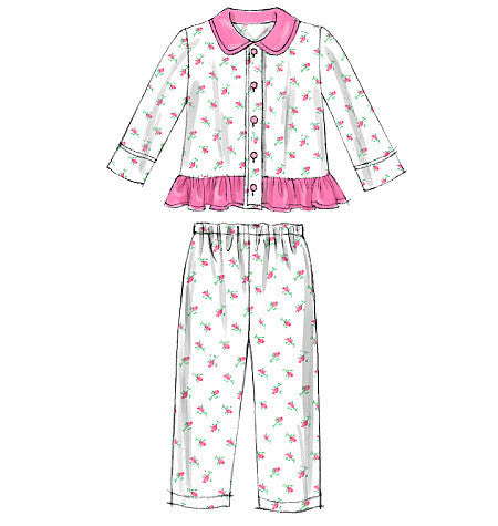 M6458 Kid's Pyjama Tops & Pants