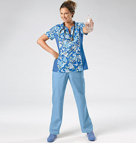 M6473 Misses'/Women's Medical Scrubs from Jaycotts Sewing Supplies