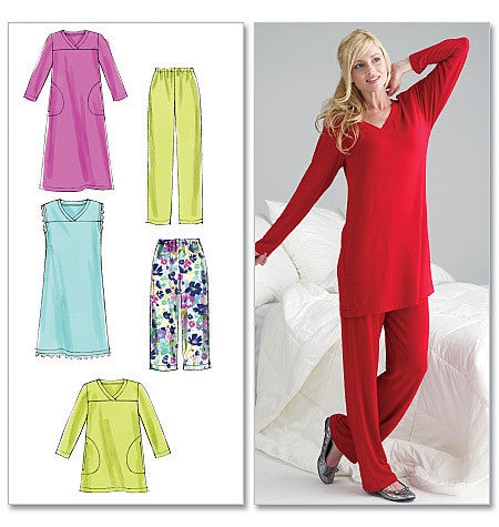 M6474 Misses'/Women's Top, Tunic, Gowns & Pants