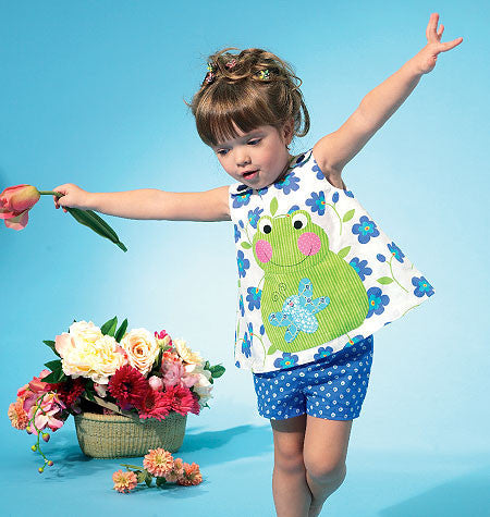 M6541 Infants' Top, Dress, Shorts & Appliqués