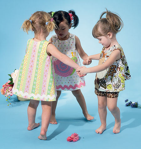 M6541 Infants' Top, Dress, Shorts & Appliqués from Jaycotts Sewing Supplies