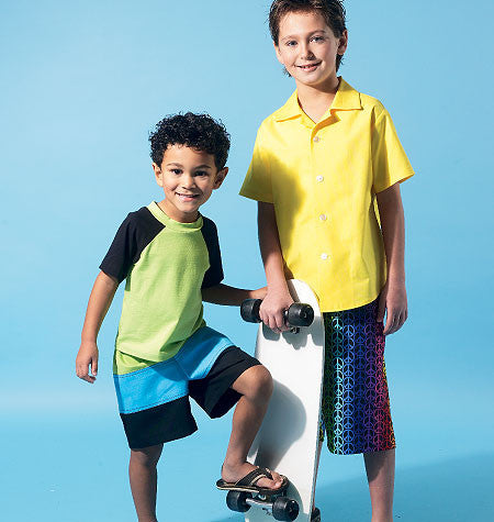M6548 Boys' Shirt, Top & Shorts