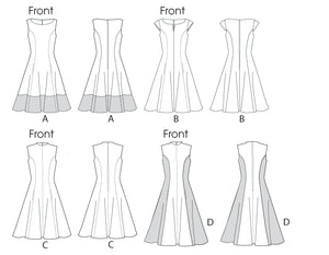 M6741 Misses'/Women's Petite Lined Dresses | Easy from Jaycotts Sewing Supplies