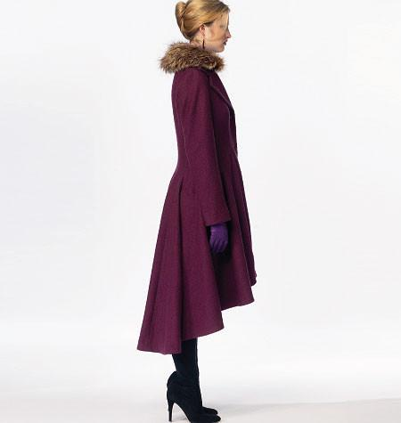 M6800 Misses'/Miss Petite Lined Coats, Belt + Detachable Collar & Hood
