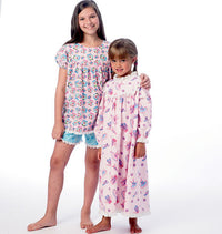 M6831 Girls' Sleepwear | Easy from Jaycotts Sewing Supplies