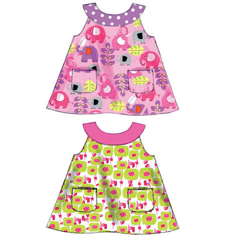 M6912 Infants' Reversible Top, Dresses; Bloomers & Pants | Easy
