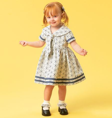 M6913 Toddlers' Dresses & Tie Ends from Jaycotts Sewing Supplies