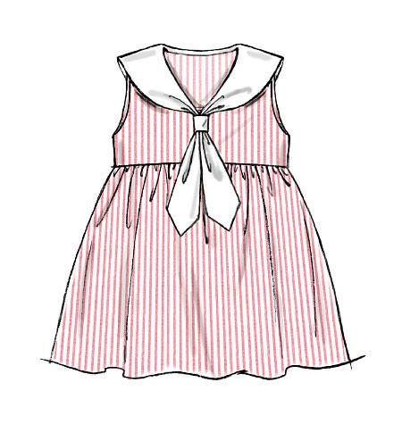 M6913 Toddlers' Dresses & Tie Ends