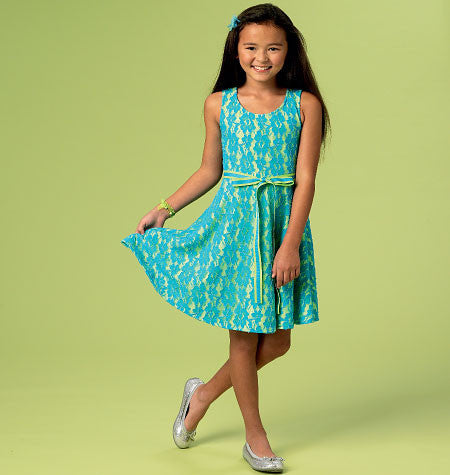M6915 Girls' Dresses | Easy