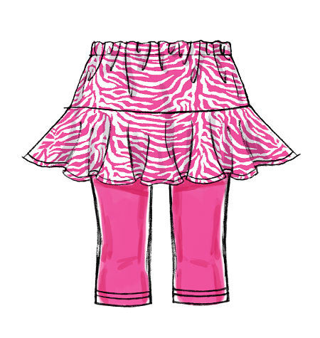 M6918 Girls' Skorts | Easy