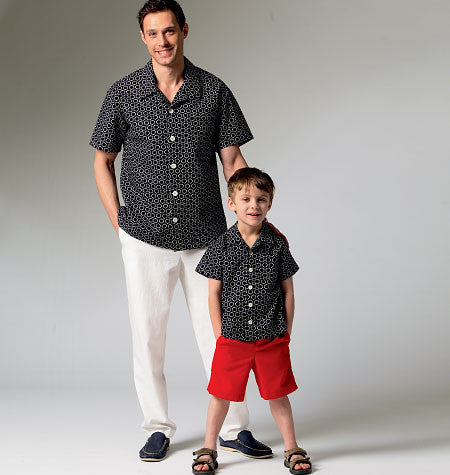 M6972 Men's/Boys' Shirt, Shorts & Pants