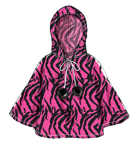 M7012 Children's/Girls' Ponchos, Hat & Scarf