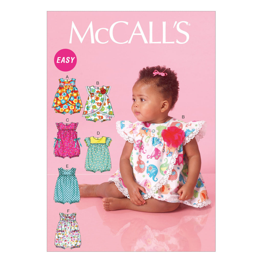 M7107 Infants' Rompers from Jaycotts Sewing Supplies