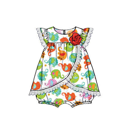 M7107 Infants' Rompers