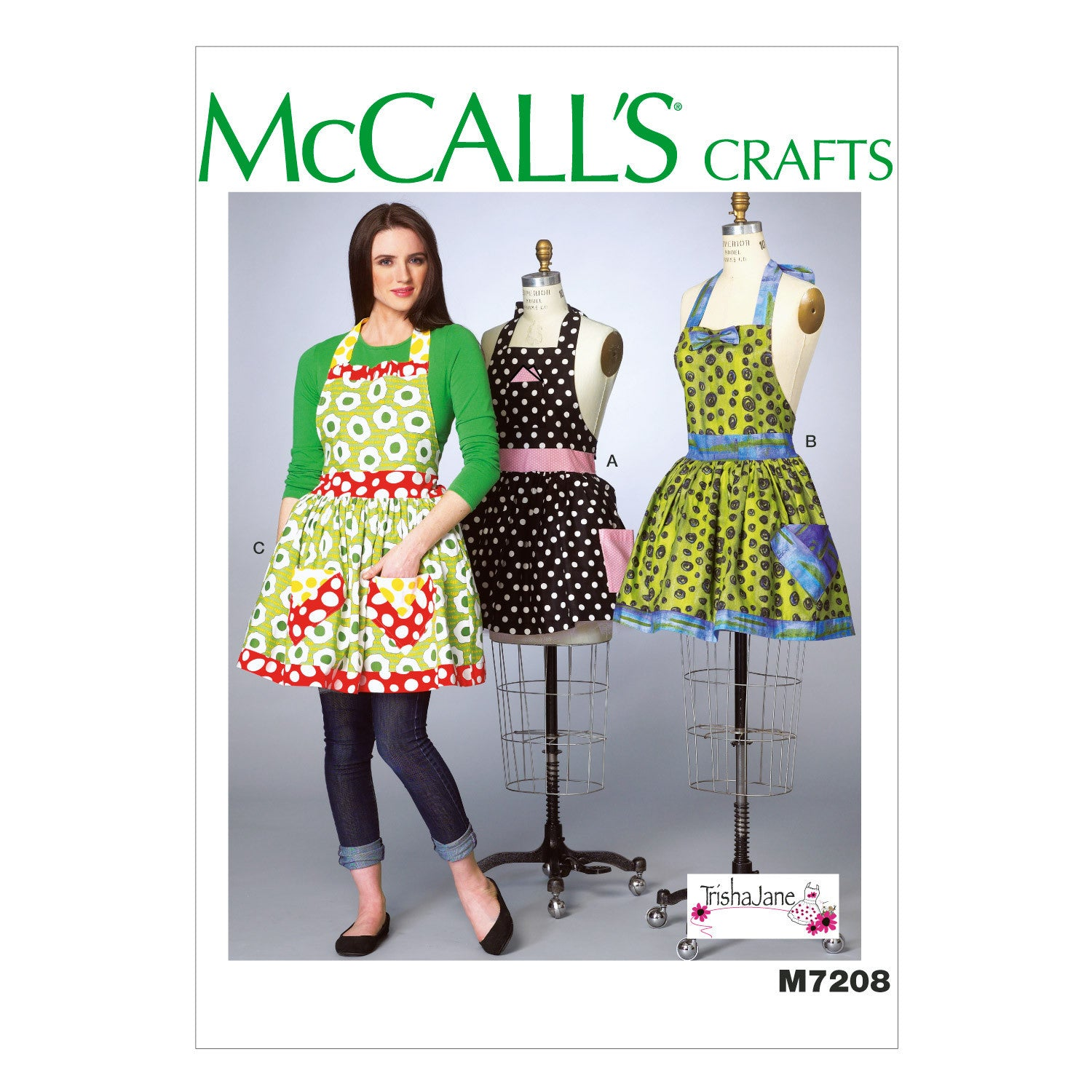 M7208 Misses' Aprons and Petticoat