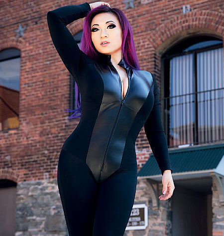 M7217 Yaya Han Zippered Bodysuit