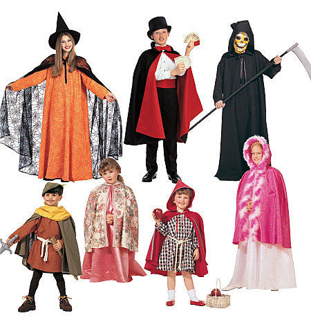 M7224 Children's Boys' and Girls' Cape and Tunic Costumes