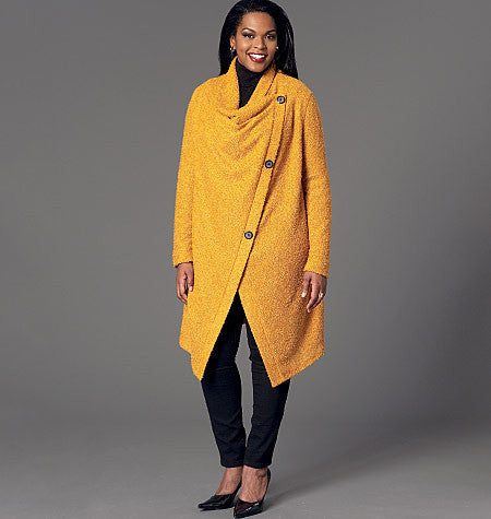 M7262 Misses'/Women's Sweater Coat and Poncho